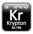 Periodic table element krypton icon vector image vector image