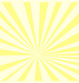 pop art background yellow sun rays on an orange vector image vector image