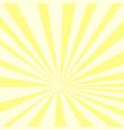 pop art background yellow sun rays on an orange vector image