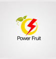 power fruit logo icon template and element vector image vector image