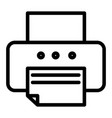 printer line icon fax vector image vector image
