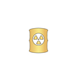 Radioactive waste computer symbol vector image