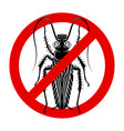 round sign with a cockroach in a gas mask vector image