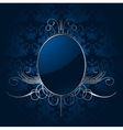 Royal blue background with silver frame vector image vector image