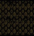 seamless autumn pattern on a dark background vector image