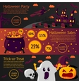 set halloween flat banners - halloween party vector image vector image