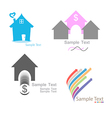 Set Home logo vector image