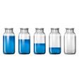 set of blue bottle vector image vector image