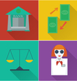 set of four financial icons in a flat design vector image vector image