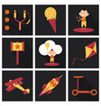 set of kids toy childhood with icons toys vector image vector image