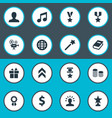 set of simple awards icons vector image vector image