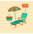 Set of summer with texture vector image