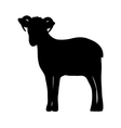 Silhouette of a sheep vector image