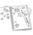 sketch monochrome business concept vector image vector image