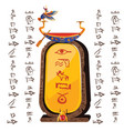 stone board clay tablet and egyptian hieroglyphs vector image vector image