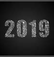 the 2019 new year number bubbles or dots vector image vector image