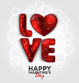 valentine card with paper hearts 4 vector image vector image
