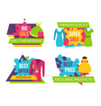 women clothing store set of advertising labels vector image