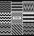 zigzag patterns black and white regular vector image vector image