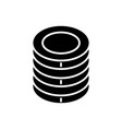 coins icon black sign on vector image
