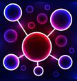 abstract molecule stylized atom scientific vector image