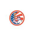 American Baseball Player Batting Circle Cartoon vector image