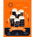 Beer festival in the city event poster vector image