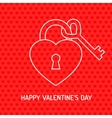 Red Valentine heart vector image