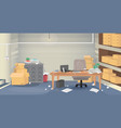 a bad example of a workplace vector image vector image