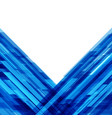 abstract geometric lines blue background vector image vector image