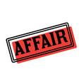affair advertising sticker vector image vector image