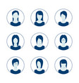 app or profile anonymous user icon set set vector image