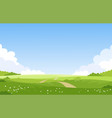 beautiful spring landscape banner with green vector image