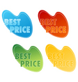 best price tags vector image vector image
