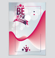 birthday design for greeting card includes vector image