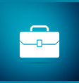 briefcase icon on blue background business case vector image vector image