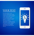 Business light bulb on smartphone screen User vector image