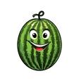 Cheerful goofy watermelon vector image vector image