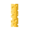 cheese letter I vector image vector image