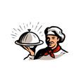 chef character mascot logo food concept vector image