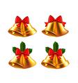 Christmas bells set vector image