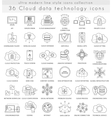 Cloud data technology ultra modern outline vector image vector image