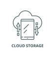 cloud storage line icon cloud storage vector image vector image