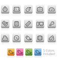 Computer Devices Buttons vector image vector image