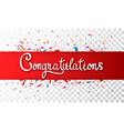 congratulations banner vector image vector image