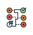 correct solution maze algorithm block vector image