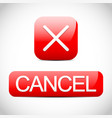 cross sign with cancel button cancel cancellation vector image