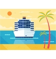 cruise ship in sea front view vector image
