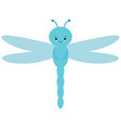 cute cartoon dragonfly is flying picture for vector image vector image