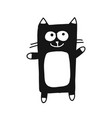 cute cat silhouette sketch for your design vector image